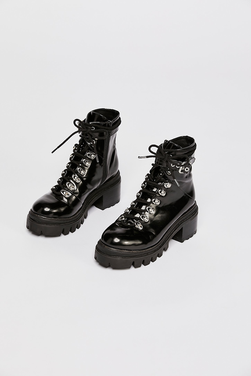 "<br><br><strong>Jeffrey Campbell</strong> Check Lace-Up Boot, $, available at <a href=""https://go.skimresources.com/?id=30283X879131&url=https%3A%2F%2Fwww.freepeople.com%2Fshop%2Fcheck-lace-up-boot%2F%3Fcategory%3Dboots%26color%3D001%26quantity%3D1%26type%3DREGULAR"" rel=""nofollow noopener"" target=""_blank"" data-ylk=""slk:Free People"" class=""link rapid-noclick-resp"">Free People</a><span class=""copyright"">Photo Courtesy of Free People.</span>"