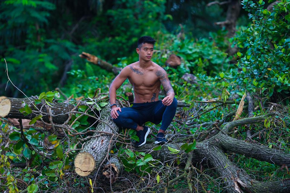 Kenneth Seow is trainer for the F45 gym fitness network, as well as a personal trainer. (PHOTO: Cheryl Tay)