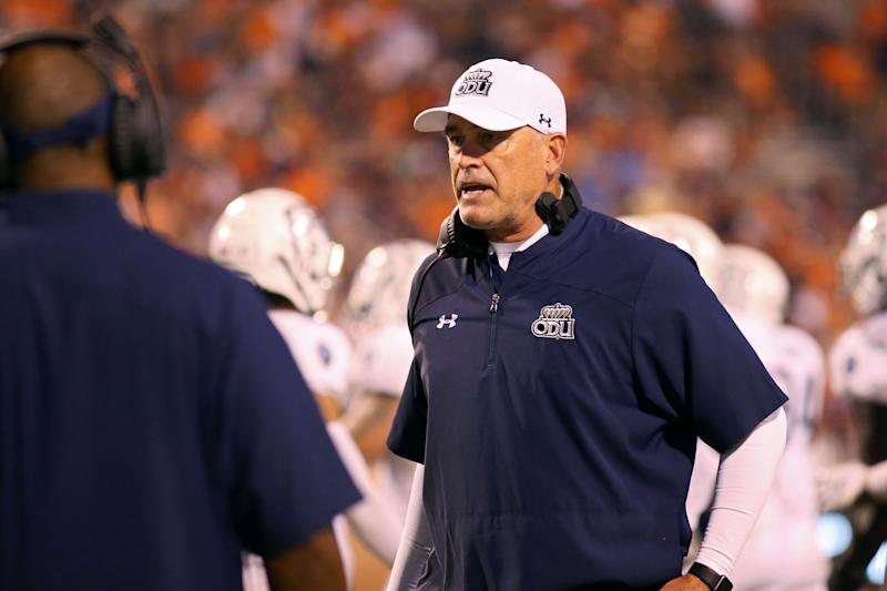 Head coach Bobby Wilder of the Old Dominion Monarchs looks on during the the second half of a game against the Virginia Cavaliers on Sept. 21. (Ryan M. Kelly/Getty Images)