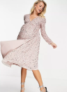"""<p>Unless you want to spend half your day scrolling through (admittedly excellent) <a href=""""https://www.asos.com/search/?q=maternity"""" rel=""""nofollow noopener"""" target=""""_blank"""" data-ylk=""""slk:ASOS"""" class=""""link rapid-noclick-resp"""">ASOS</a> maternity looks then we recommend you have some idea of what you're looking for before you start shopping. Their specialty is catering for new mums with an eye for a trend (like <a href=""""https://www.asos.com/maya-maternity/maya-maternity-embellished-midi-wrap-dress-in-frosted-pink/prd/22967034?colourwayid=60440453&cid=5813"""" rel=""""nofollow noopener"""" target=""""_blank"""" data-ylk=""""slk:this"""" class=""""link rapid-noclick-resp"""">this</a> bit of sparkle) and having fun with fashion. </p><p>They also sell petite maternity. Indulge while you can - there'll be less time to play dress-up for a while once your little one arrives.</p><p><a class=""""link rapid-noclick-resp"""" href=""""https://go.redirectingat.com?id=127X1599956&url=https%3A%2F%2Fwww.asos.com%2Fsearch%2F%3Fq%3Dmaternity&sref=https%3A%2F%2Fwww.womenshealthmag.com%2Fuk%2Fhealth%2Fg36261049%2F16-best-maternity-clothes-and-brands-for-trendy-bumps%2F"""" rel=""""nofollow noopener"""" target=""""_blank"""" data-ylk=""""slk:SHOP NOW"""">SHOP NOW</a></p>"""