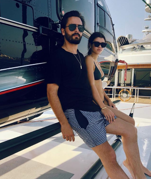 This photo of Scott and Sofia beside a chopper has sparked confusion amongst fans who mistook Sofia for his ex, Kourtney. Source: Instagram/ScottDisick