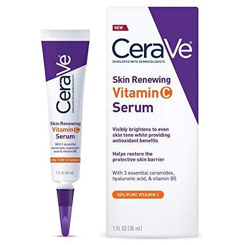 """<p><strong>CeraVe</strong></p><p>amazon.com</p><p><strong>$15.69</strong></p><p><a href=""""https://www.amazon.com/dp/B07PNCCLD2?tag=syn-yahoo-20&ascsubtag=%5Bartid%7C2141.g.34183389%5Bsrc%7Cyahoo-us"""" rel=""""nofollow noopener"""" target=""""_blank"""" data-ylk=""""slk:SHOP NOW"""" class=""""link rapid-noclick-resp"""">SHOP NOW</a></p><p>Non-comedogenic and gentle, this lightweight brightening serum from CeraVe is formulated with 10% l-ascorbic acid (the purest form of vitamin C), ceramides, hyaluronic acid, and vitamin B5 to help improve skin tone, texture, and hydration, all while protecting against free radical damage.</p>"""