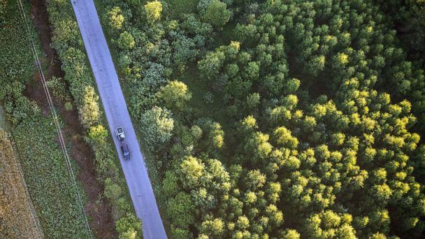 PHOTO: In this July 31, 2018, file photo, an aerial view of a motorway and a forest is shown in the Nizhny Novgorod region of Russia. (Mikhail Solunin/TASS via Getty Images, FILE)