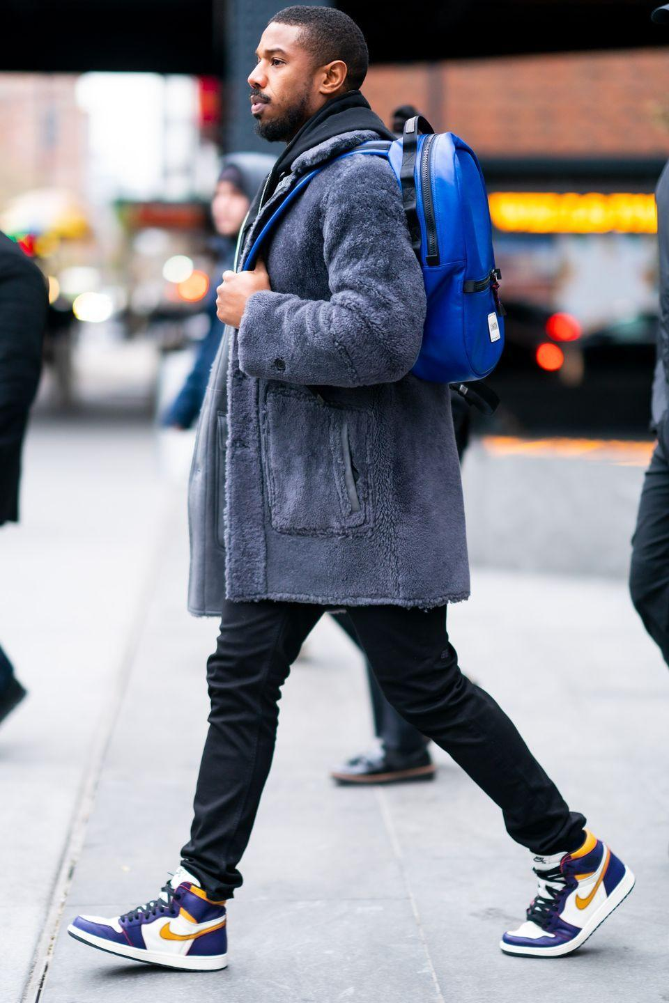 <p>Elevated never has to mean unapproachable. MBJ is wearing a literal backpack, sneakers, and a fluffy jacket. And damn, does it look good.</p>