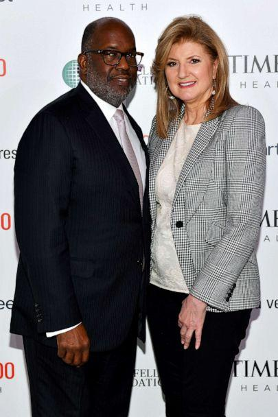 PHOTO: Kaiser Permanente Chairman & CEO Bernard J. Tyson and Arianna Huffington, founder & CEO of Thrive Global and The Huffington Post, arrive at the TIME 100 Health Summit at Pier 17 on Oct. 17, 2019 in New York City. (Craig Barritt/Getty Images for TIME 100 Health)