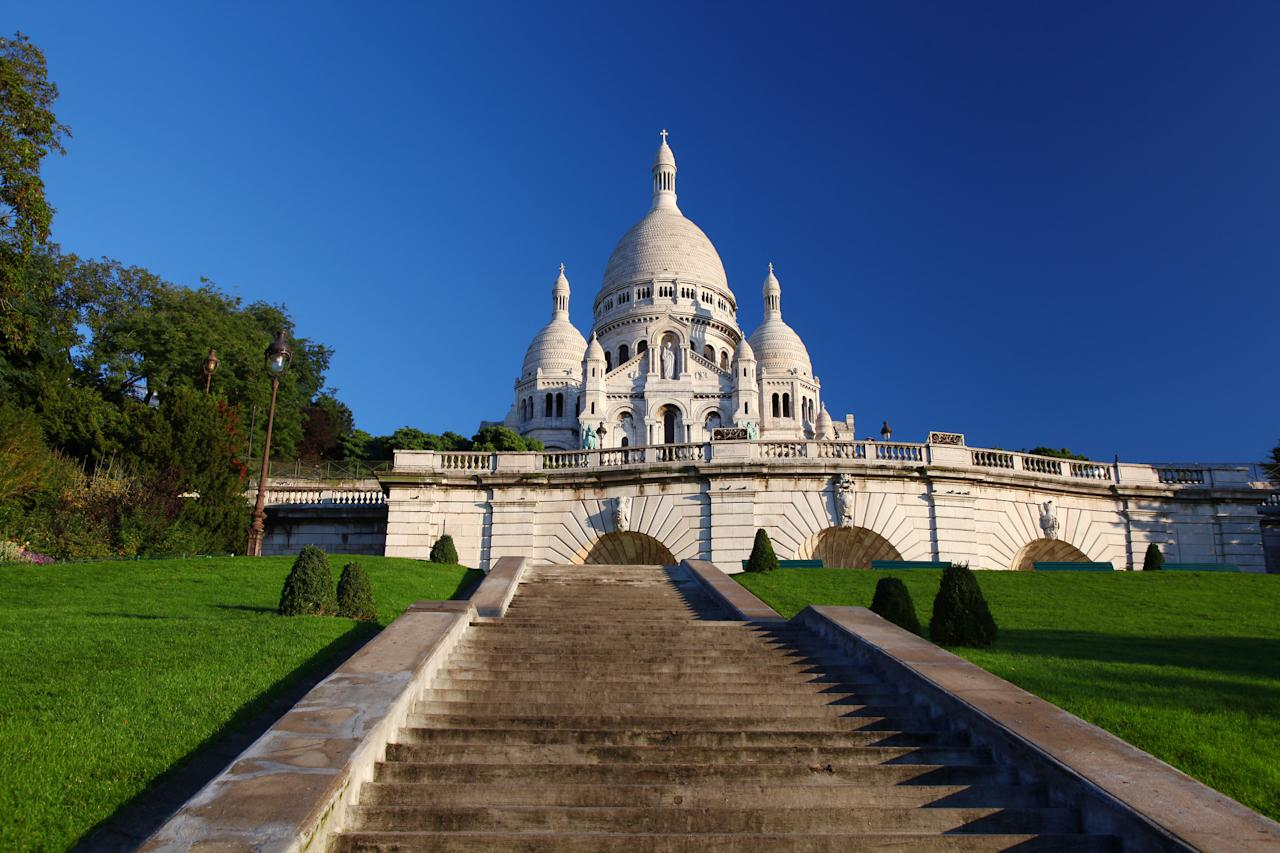 <p>The Sacré-Cœur in Paris unsurprisingly stole the top spot for being home to the most Instagrammed stairs in the world. For those hoping to capture a perfect shot of the city's second highest point, be prepared to climb an impressive 270 steps. <em>[Photo: Getty]</em> </p>