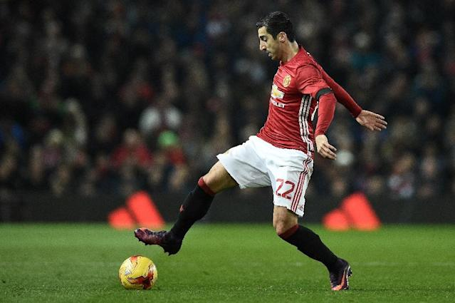 Henrikh Mkhitaryan claims Manchester United wants to succeed in every tournament (AFP Photo/Oli SCARFF )
