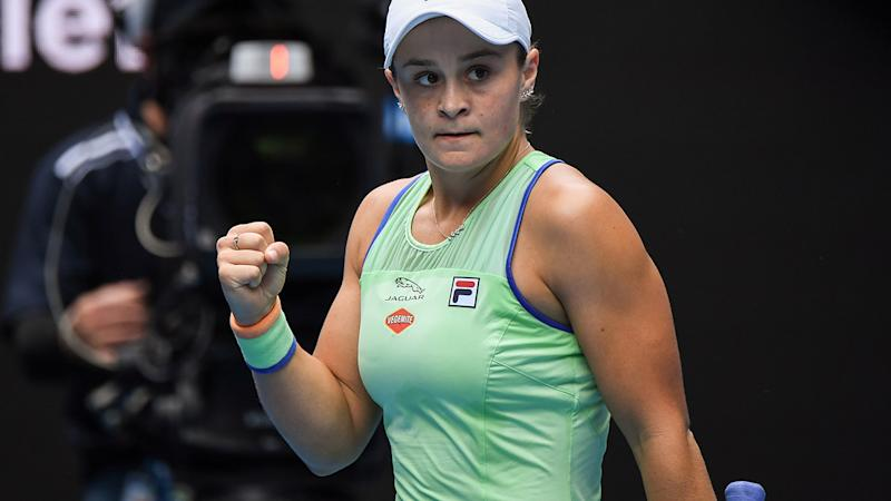 Ashleigh Barty, pictured here celebrating her win at the Australian Open.