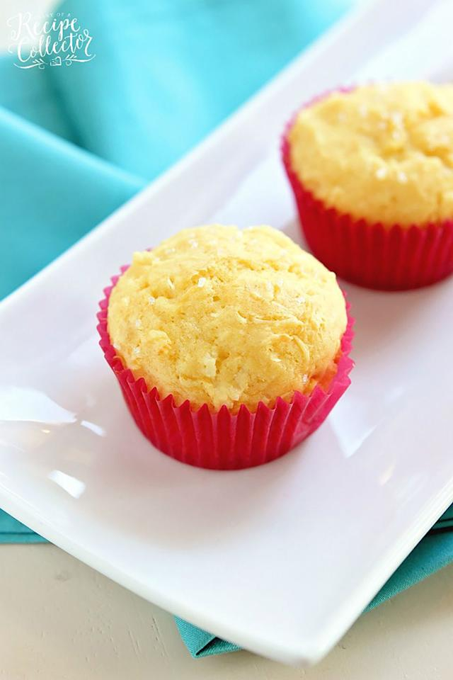 "<p>Whip up a batch of these muffins to enjoy as a quick breakfast or an afternoon snack. They only require five ingredients! </p><p><strong>Get the recipe at <a rel=""nofollow"" href=""https://www.diaryofarecipecollector.com/pina-colada-muffins.html"">Diary of a Recipe Collector</a>.</strong></p>"