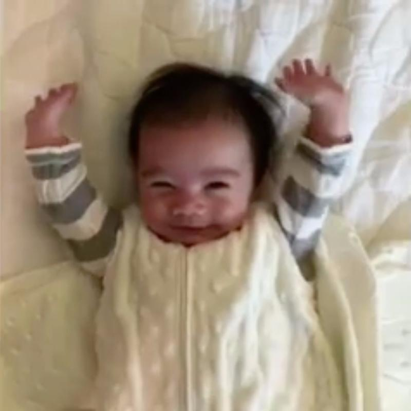 "Every Time This Baby's Swaddle Is Removed, He Strikes a Pose That Screams ""Freedom!"""