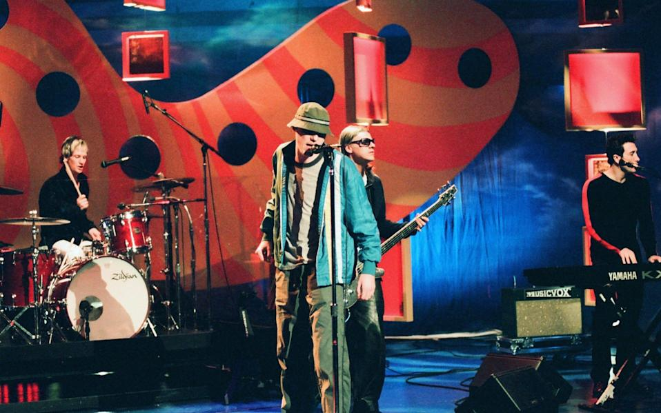 The New Radicals on The Tonight Show with Jay Leno in 1999 - Joey Del Valle/NBCU Photo Bank/NBCUniversal/Getty