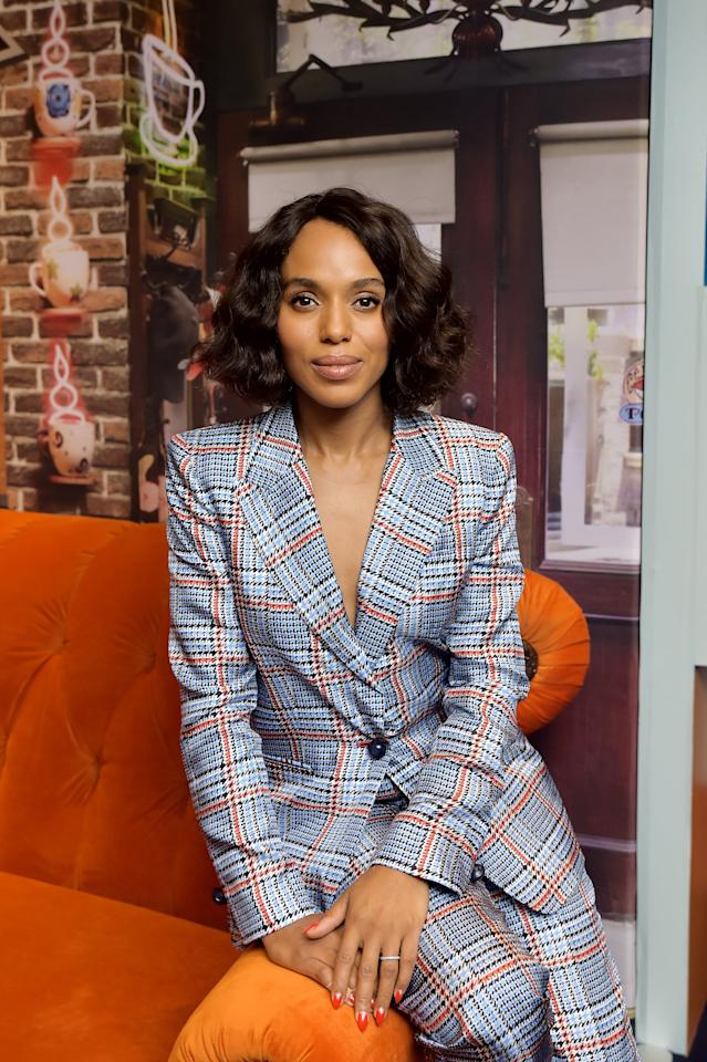 <p>Kerry Washington styled waves into her bob for an appearance at the 2019 Toronto International Film Festival.</p>