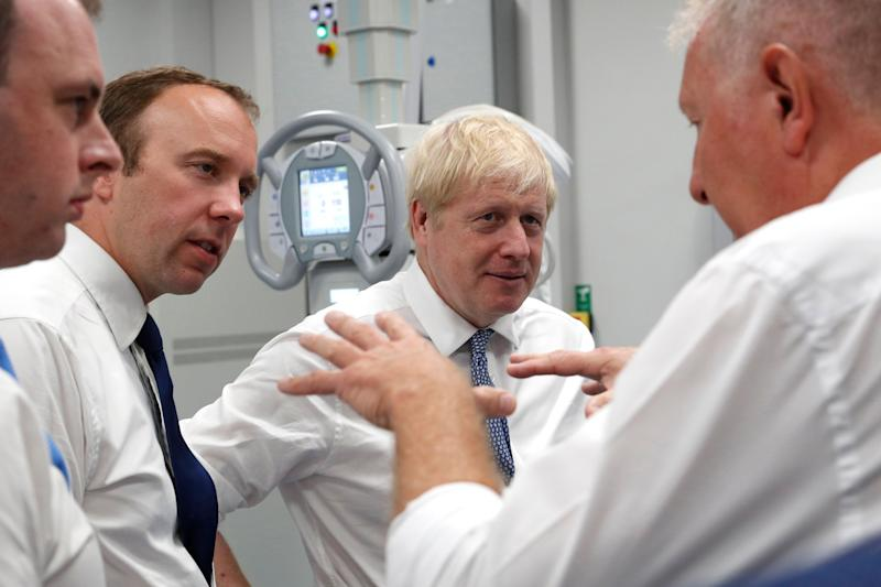 Prime Minister Boris Johnson (2nd right) and Matt Hancock, Secretary of State for Health and Social Care (2nd left) (Photo: PA Wire/PA Images)