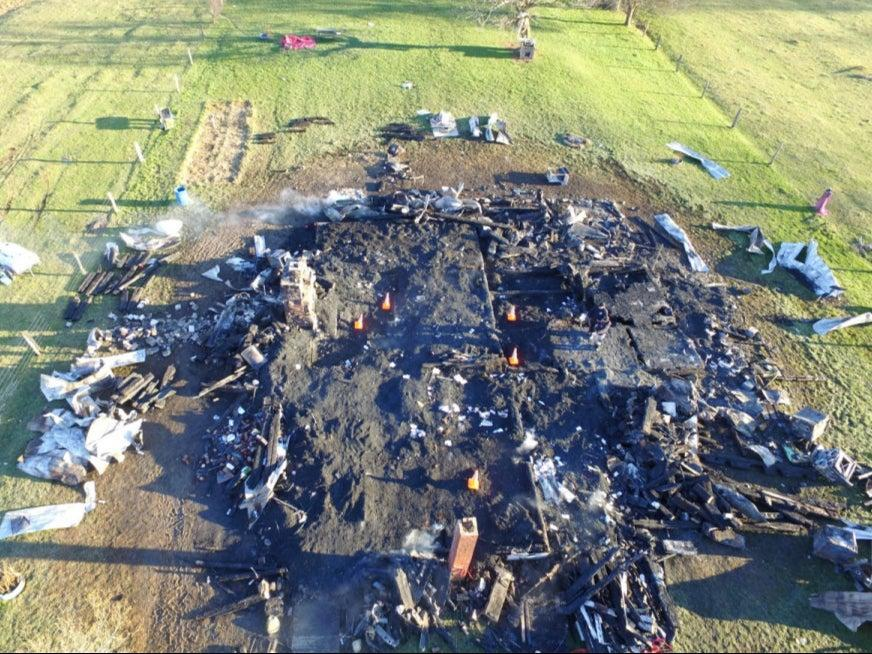 <p>Oreanna Myers home burned to the ground in West Virginia</p> ((Greenbrier County Sheriff's Department))