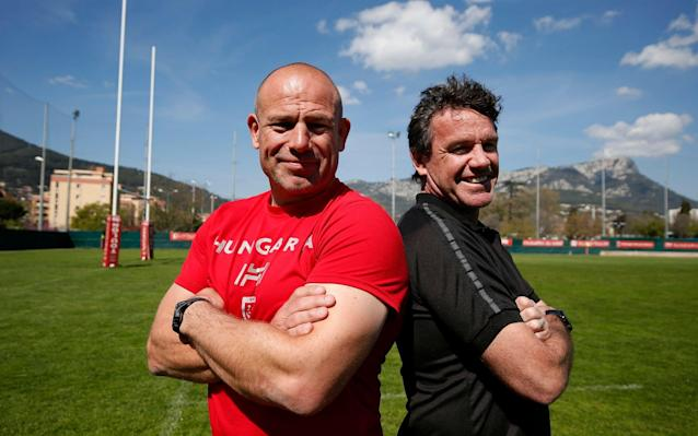 Mike Ford and Richard Cockerill at Toulon  - EPA