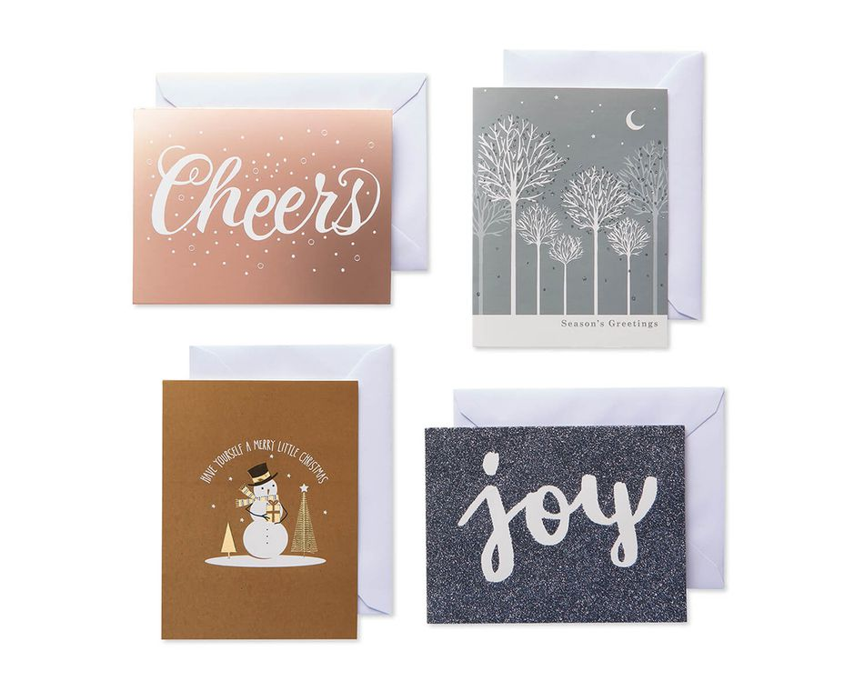 """<strong><h3>American Greetings</h3></strong><br>As one of the largest greeting card makers in the country, this trusted site doesn't disappoint with its bounty of classic holiday options. The greetings range from boxed card and envelope packs with festive designs to personalized Ecards with <a href=""""https://www.americangreetings.com/cards/ecards/smashups/_/N-17ydyorZ1x91zju"""" rel=""""nofollow noopener"""" target=""""_blank"""" data-ylk=""""slk:celebrity Smashup capabilities"""" class=""""link rapid-noclick-resp"""">celebrity Smashup capabilities</a>.<br><br>Shop <a href=""""https://www.americangreetings.com/cards/paper-cards/boxed-cards/_/N-q6n6dm"""" rel=""""nofollow noopener"""" target=""""_blank"""" data-ylk=""""slk:American Greetings"""" class=""""link rapid-noclick-resp"""">American Greetings</a><br><br><strong>American Greetings</strong> Metallic Medley Assorted Christmas Cards (20), $, available at <a href=""""https://go.skimresources.com/?id=30283X879131&url=https%3A%2F%2Fwww.americangreetings.com%2Fdetail%2Fpaper-cards%2Fchristmas%2Fmetallic-medley-assorted-christmas-boxed-cards-with-white-envelopes-20-count%2Fpn%2Fprod4412"""" rel=""""nofollow noopener"""" target=""""_blank"""" data-ylk=""""slk:American Greetings"""" class=""""link rapid-noclick-resp"""">American Greetings</a>"""