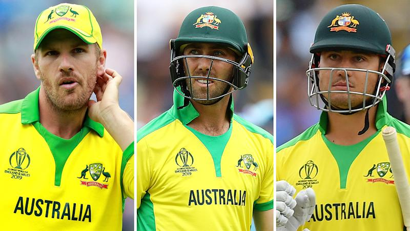 Aaron Finch, Glenn Maxwell and Marcus Stoinis all look set to miss out on the Ashes. Pic: Getty