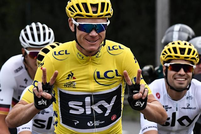 Four-time Tour de France winner Chris Froome can dream of a fifth victory when it gets underway on Saturday after his 'worst nightmare' came to an end when he was cleared of an alleged doping offence (AFP Photo/Jeff PACHOUD)