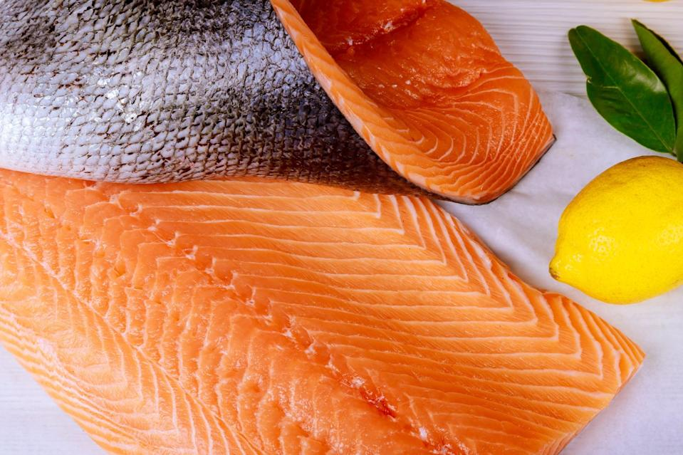 "<p>If your kiddo is a little seafoodie, you are one step ahead of the game. Fatty fish like salmon contain DHA, a fatty acid that has been shown <a href=""https://www.ncbi.nlm.nih.gov/pmc/articles/PMC3597837/"" class=""link rapid-noclick-resp"" rel=""nofollow noopener"" target=""_blank"" data-ylk=""slk:to enhance white blood cell activity"">to enhance white blood cell activity</a> and help support immune health. </p> <p>Mini salmon cakes or homemade fish sticks are great ways to get some DHA fatty acids into your kiddo's diet. Just remember to stick to the low-mercury seafood options and pick out any bones before serving!</p>"