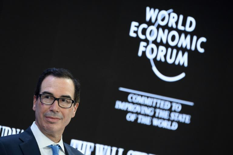 US Treasury Secretary Steven Mnuchin told Thunberg to study economics after she called for a halt to fossil fuel investment (AFP Photo/Fabrice COFFRINI)