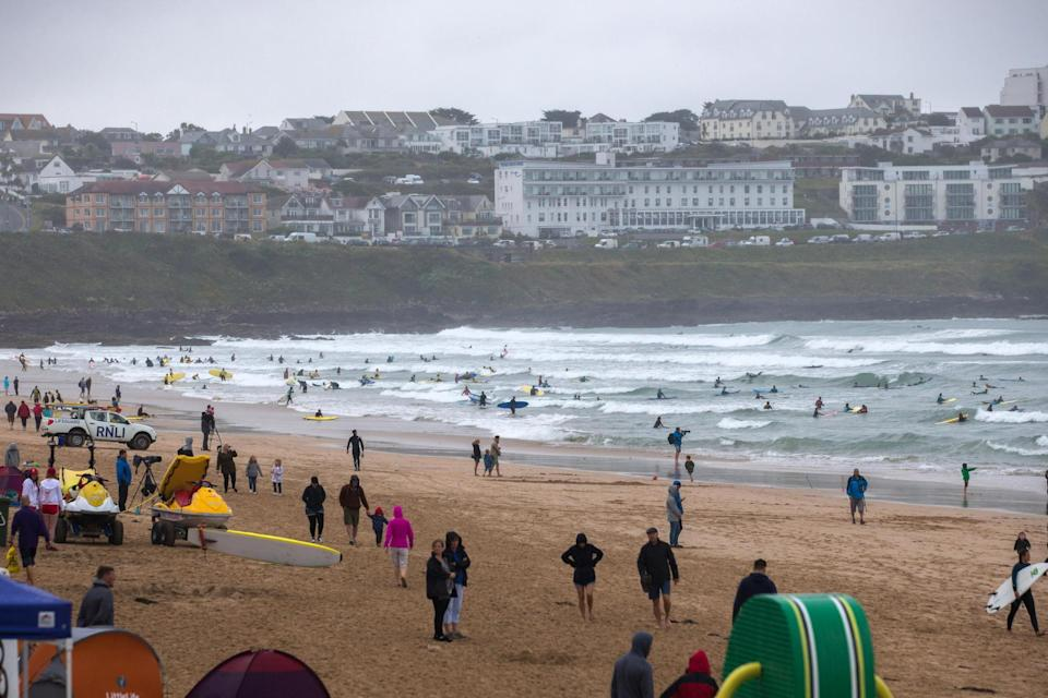 Newquay is a popular surfing spotGetty Images