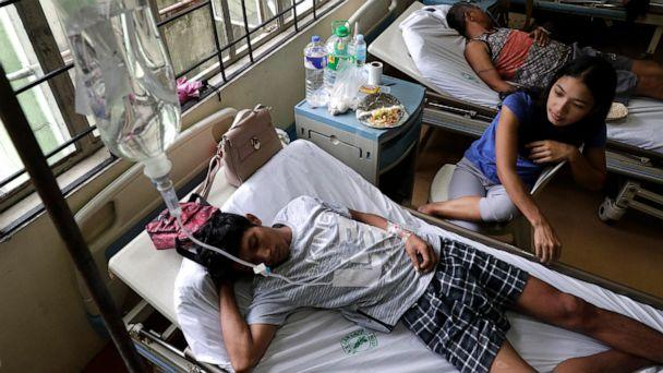 PHOTO: Dengue patients lie inside a room at the San Lazaro government hospital in Manila, Philippines, Aug. 7, 2019. (Aaron Favila/AP)