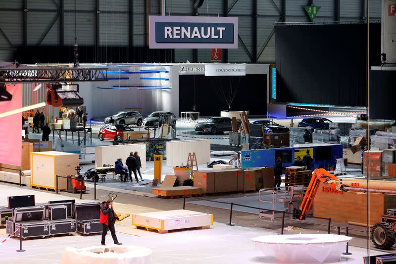 FILE PHOTO: Cancellation of the International Motor Show at Palexpo in Geneva
