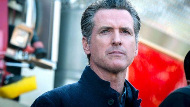 PHOTO: California Governor Gavin Newsom speaks at a press conference for an update on the Getty Fire in Los Angeles, Oct. 29, 2019. (Christian Monterrosa/AP, FILE)