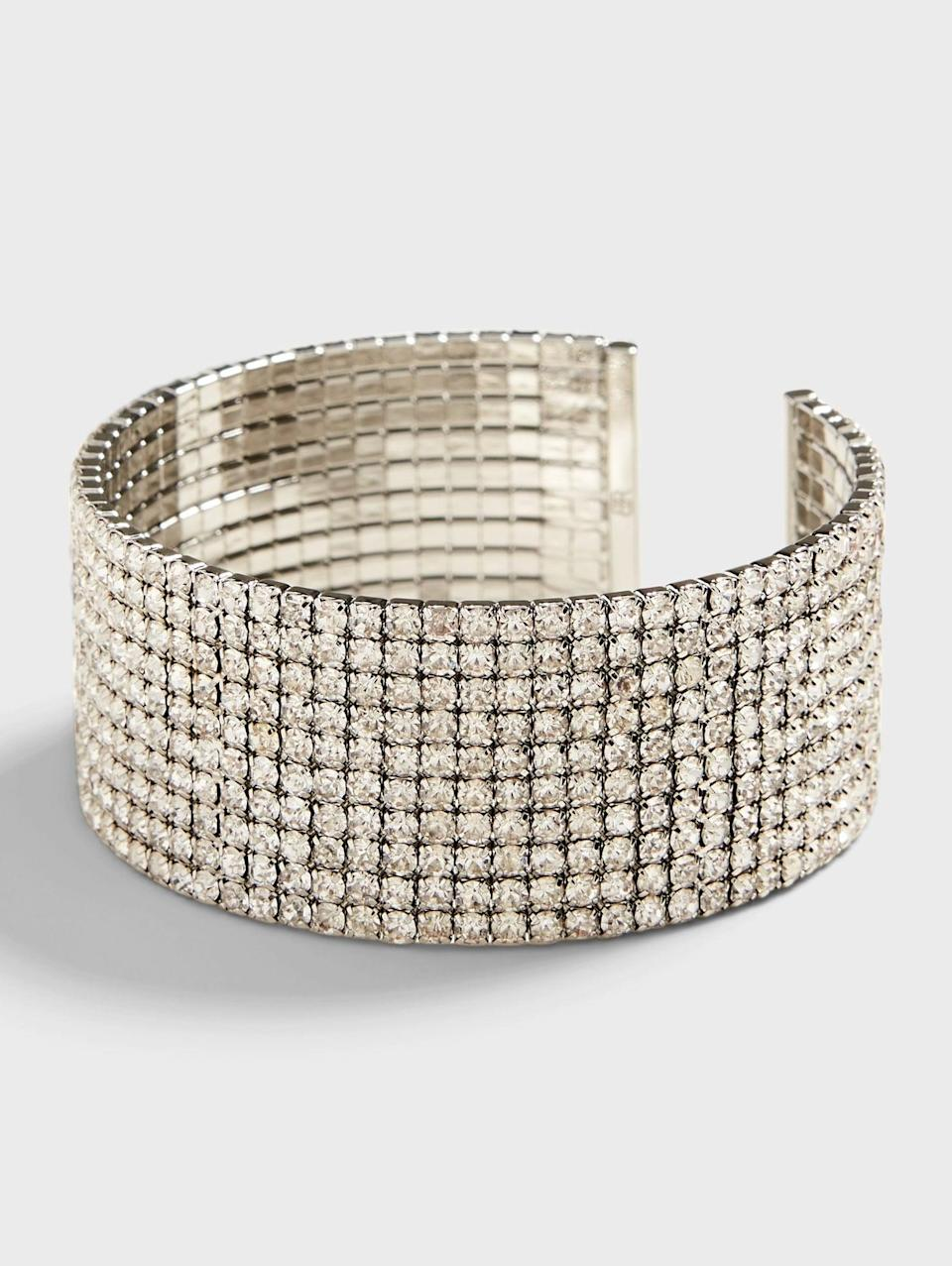 <p>Do you talk with your hands? Try this <span>Banana Republic Thick Glitz Cuff</span> ($26, originally $58)! If they're going to be on the screen, adorn them!</p>