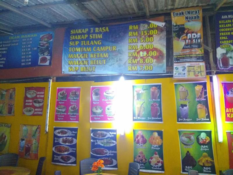 The prices of food items as displayed at the food stall in Kelantan. — Picture via Facebook