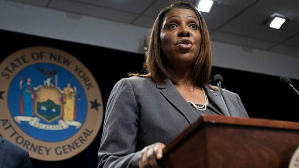 PHOTO: New York Attorney General Letitia James speaks during a press conference, June 11, 2019, in New York. (Drew Angerer/Getty Images, FILE)