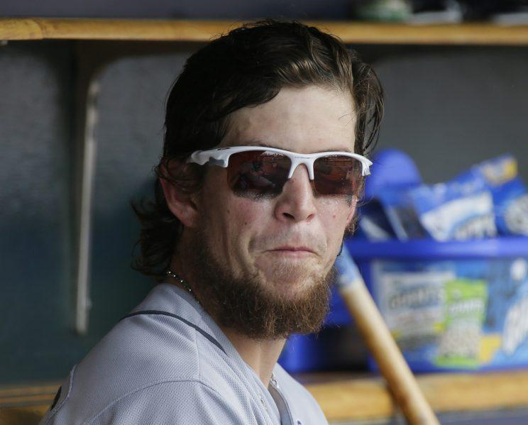 Rays outfielder Colby Rasmus will take a break from baseball. (AP Photo)