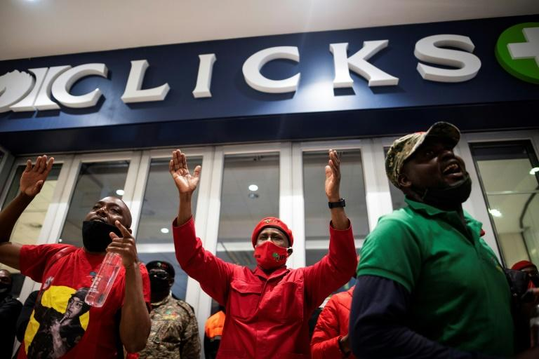 Protests over 'racist' ads shut hundreds of S.Africa pharmacies