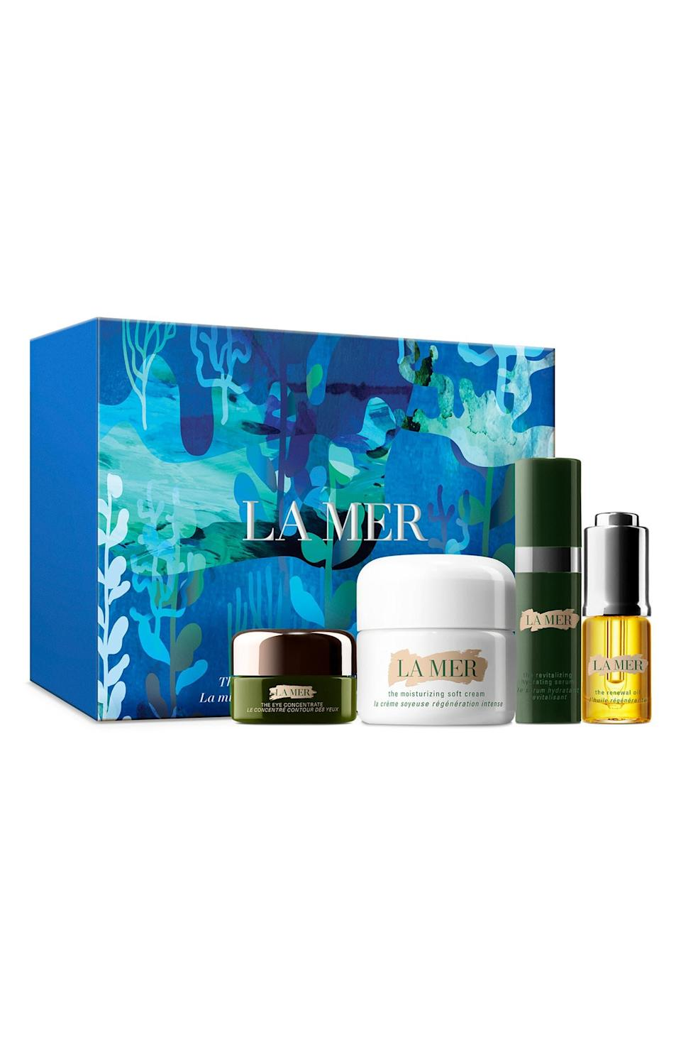 """<strong><h2>La Mer The Mini Miracle Broth Introductory Glow Set</h2></strong><br><strong>NEXT-BEST DEAL</strong><br>You may not get the cute green makeup bag, but this Nordstrom Anniversary Sale beauty exclusive still includes highly coveted La Mer goodies at a value-bundled price point.<br><br><em>Shop more <a href=""""https://go.skimresources.com/?id=30283X879131&xs=1&url=https%3A%2F%2Fwww.nordstrom.com%2Fbrowse%2Fanniversary-sale%2Fall%3Fcampaign%3D0728publicgnpt1%26jid%3Dj012165-15573%26cid%3D00000%26cm_sp%3Dmerch-_-anniversary_15573_j012165-_-catpromo_corp_persnav_shop%26%3D%26postalCodeAvailability%3D10543%26filterByProductType%3Dbeauty-grooming_beauty-supplements%26filterByProductType%3Dbeauty-grooming_eye-makeup%26filterByProductType%3Dbeauty-grooming_face-makeup%26filterByProductType%3Dbeauty-grooming_fragrance%26filterByProductType%3Dbeauty-grooming_hair-styling-products%26filterByProductType%3Dbeauty-grooming_hair-tools%26filterByProductType%3Dbeauty-grooming_hair-treatments%26filterByProductType%3Dbeauty-grooming_hygiene-products%26filterByProductType%3Dbeauty-grooming_lip-makeup%26filterByProductType%3Dbeauty-grooming_makeup-tools%26filterByProductType%3Dbeauty-grooming_moisturizers%26filterByProductType%3Dbeauty-grooming_nail-polish%26filterByProductType%3Dbeauty-grooming_shampoo%26filterByProductType%3Dbeauty-grooming_skin-care-tools%26filterByProductType%3Dbeauty-grooming_skin-care-treatments%26filterByProductType%3Dbeauty-grooming_skin-cleansers%26filterByProductType%3Dbeauty-grooming_sunscreen&sref=https%3A%2F%2Fwww.refinery29.com%2Fen-us%2Fnordstrom-anniversary-sale-best-sellers"""" rel=""""nofollow noopener"""" target=""""_blank"""" data-ylk=""""slk:Nordstrom Anniversary Sale beauty"""" class=""""link rapid-noclick-resp"""">Nordstrom Anniversary Sale beauty</a></em><br><br><strong>La Mer</strong> The Mini Miracle Broth™ Introductory Glow Set, $, available at <a href=""""https://go.skimresources.com/?id=30283X879131&url=https%3A%2F%2Fwww.nordstrom.com%2Fs%2Fla-mer-the-mini-miracl"""