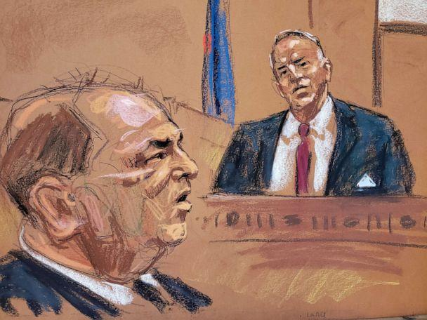 PHOTO: Lance Maerov testifies during film producer Harvey Weinstein's sexual assault trial at New York Criminal Court in the Manhattan borough of New York City, New York, Jan. 22, 2020 in this courtroom sketch. (Jane Rosenberg/Reuters)