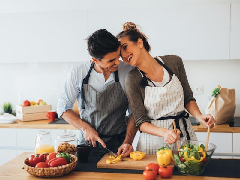 Lean on your partner for support, but be careful not to pack on the PDA! Source: Getty