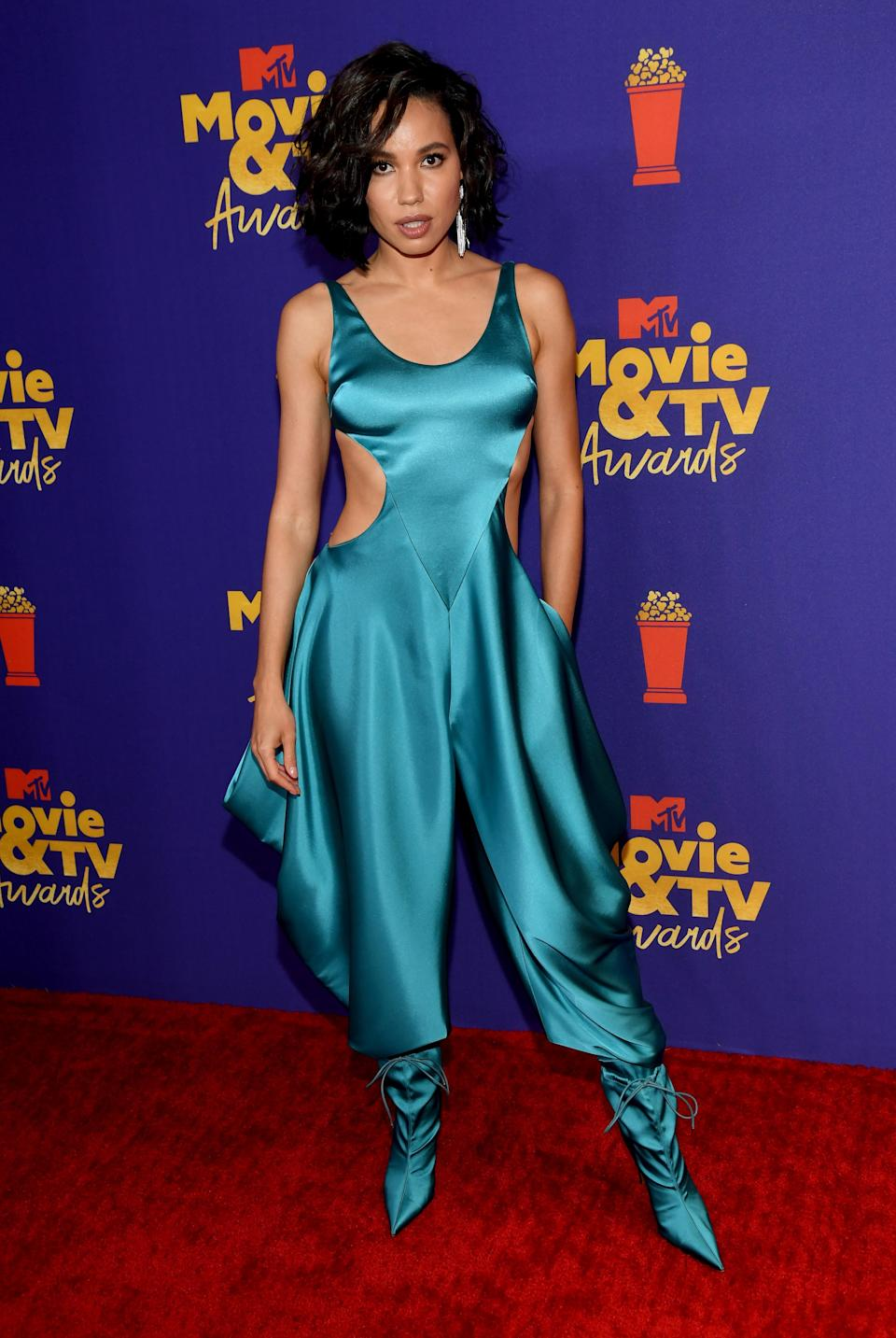 Jurnee Smollett was nominated for her role in Lovecraft Country (Kevin Mazur/2021 MTV Movie and TV Awards/Getty Images for MTV/ViacomCBS)