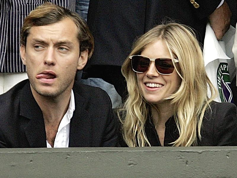 Jude Law, British actor, and Sienna Miller (l-r), actress, photo