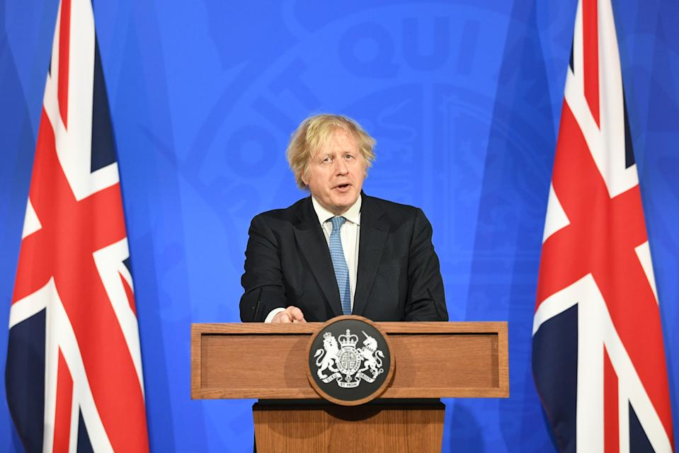 UK prime minister Boris Johnson hasn't ruled out the idea of Covid passports. Photo: Stefan Rousseau-WPA Pool/Getty Images