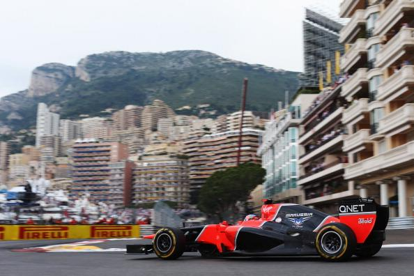 Timo Glock of Germany and Marussia drives during the Monaco Formula One Grand Prix at the Circuit de Monaco on May 27, 2012 in Monte Carlo, Monaco. (Photo by Mark Thompson/Getty Images)