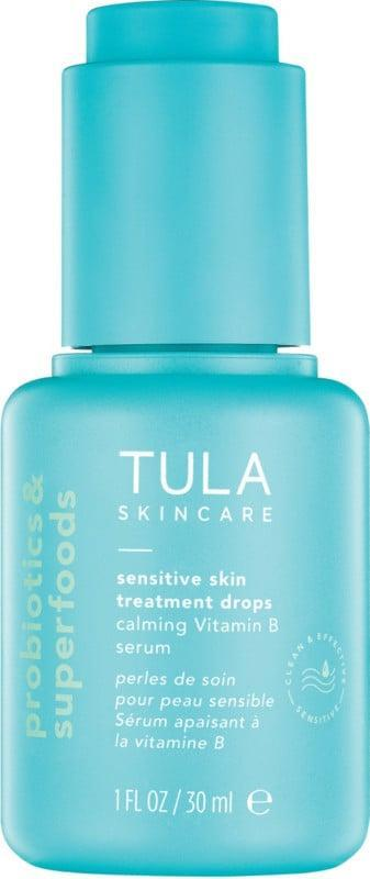 <p>If you have stressed, irritated, or red skin, try the <span>Tula Sensitive Skin Treatment Drops Calming Vitamin B Serum</span> ($48). It contains a blend of four different types of vitamin B (known for addressing inflammation, dryness, and acne).</p>