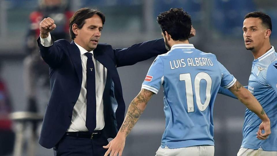 Inzaghi e Luis Alberto | Giuseppe Bellini/Getty Images