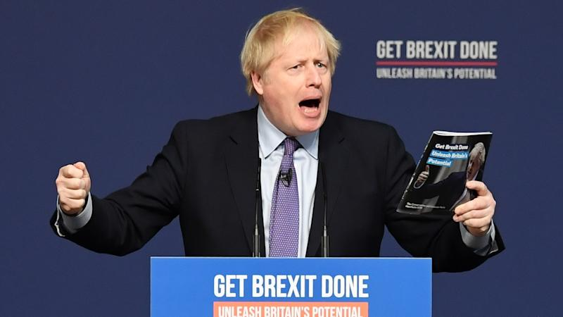 Johnson vows to re-unite Britain as he sets out Tory election manifesto