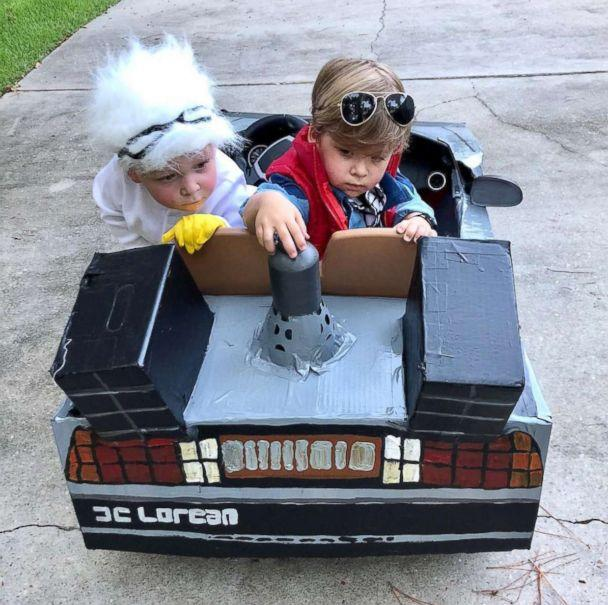 PHOTO: Charlie and Row Willis, 2, of Florida, are going as characters Marty McFly and his brother Charlie is going as Doc from the film, 'Back to the Future.' (Lauren Willis)