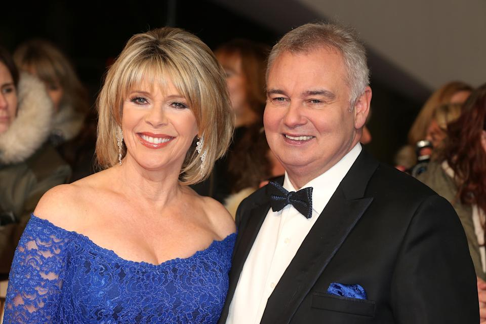 LONDON, ENGLAND - JANUARY 25:  Ruth Langsford and Eamonn Holmes attend  the National Television Awards at The O2 Arena on January 25, 2017 in London, England.  (Photo by Fred Duval/FilmMagic)