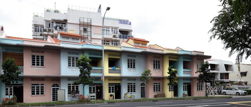 Exterior of the conservation shophouse component of Heritage East