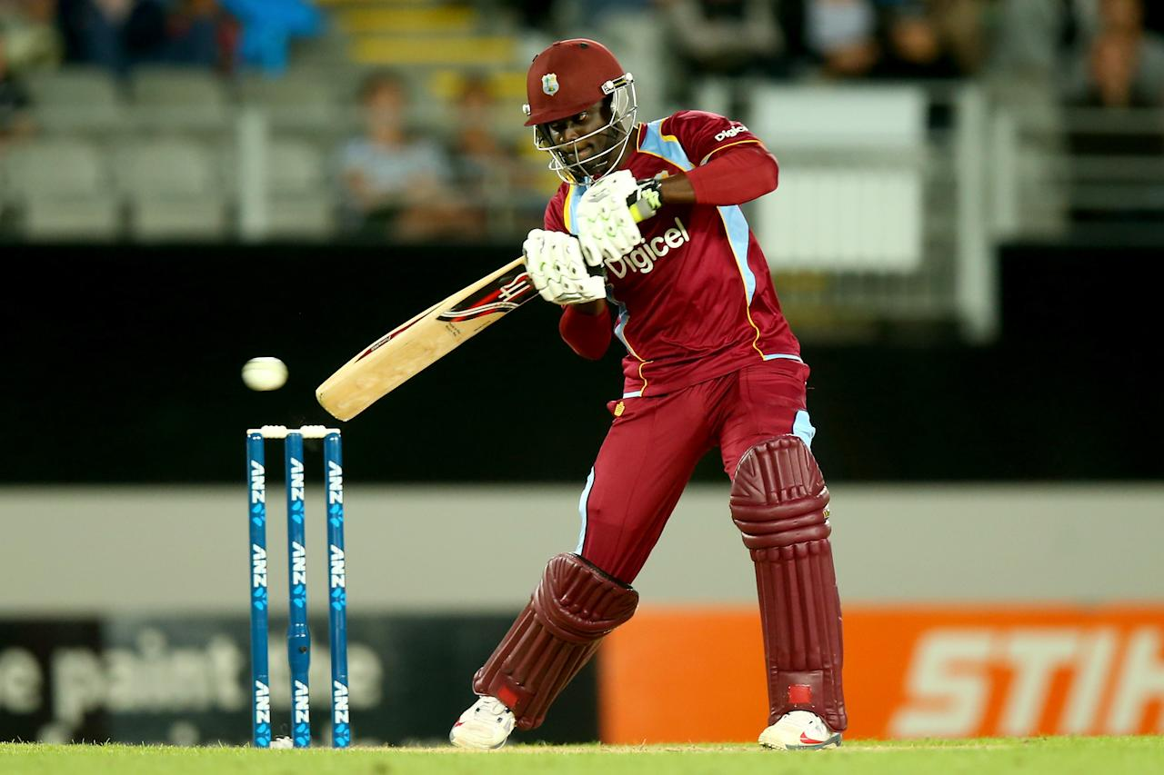 AUCKLAND, NEW ZEALAND - JANUARY 11: Andre Fletcher of the West Indies bats during the first T20 between New Zealand and the West Indies at Eden Park on January 11, 2014 in Auckland, New Zealand.  (Photo by Phil Walter/Getty Images)