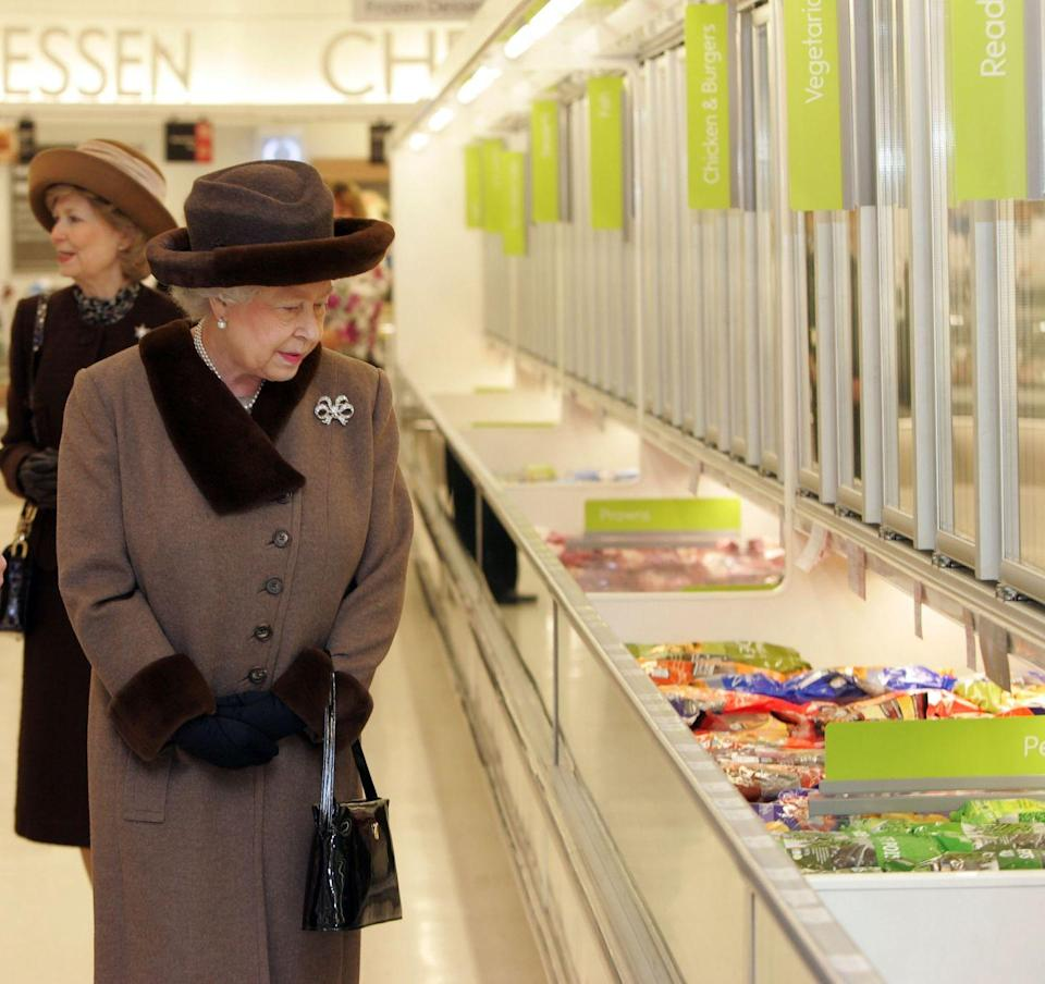<p>No matter what she wears, it always looks a little like the Queen has never stepped foot inside a supermarket. </p>