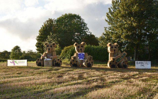 The entry from Bankfoot JAC of Perthshire district in the Young Farmers' Bale Art Competition