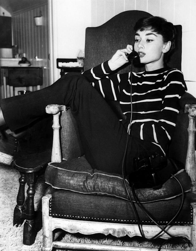 The 1954 photo of Audrey Hepburn that was Dunham's inspiration. (Photo: Paramount/Kobal/REX/Shutterstock)